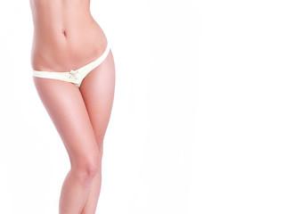 Fototapeta Slender female waist isolated on white obraz