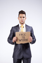 This businessman is free to work