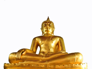The Gold Buddha image isolate, Thailland