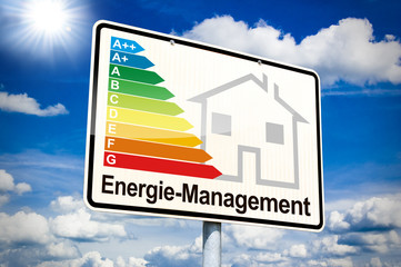 Ortseingangsschild mit Energiemanagement
