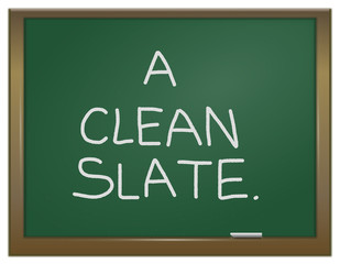 A clean slate concept.