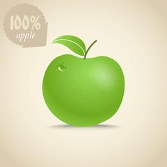 Cute fresh apple illustration