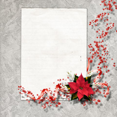 Framework for invitations. The vintage christmas composition.