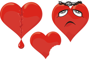 wounded heart - unhappy love