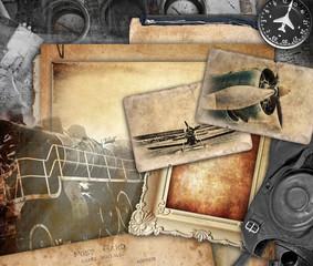 Retro composition, vintage background