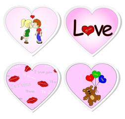 Love stickers - set 2