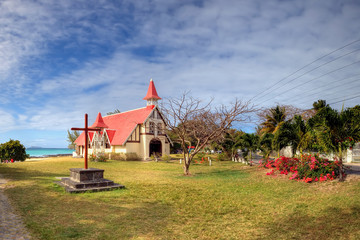 Red roofed church, Mauritius