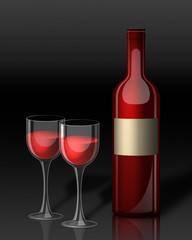 Вино и бокалы