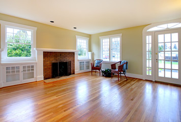 Large historical empty living room