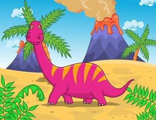 Photo sur Plexiglas Dinosaurs Dinosaur Cartoon