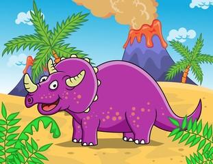 Photo sur Plexiglas Dinosaurs Triceratops
