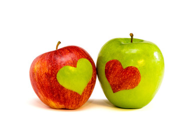 two lovers apples