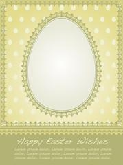 Vintage Easter holiday background.