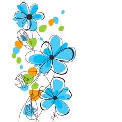Fototapete - Spring flowers background