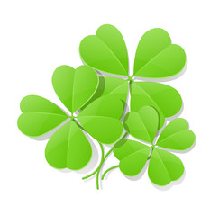 clover four leaf for saint patrick's day vector illustration