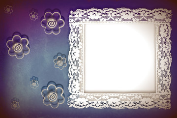 background framework, lace and flowers