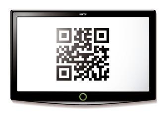 LCD TV QR code scan