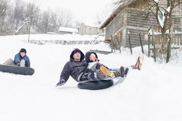Winter snow race