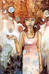Obrazek przedstawiający abstakcyjną postać kobiety