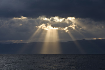 Sunbeams from the heaven
