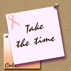 pink ribbon take the time