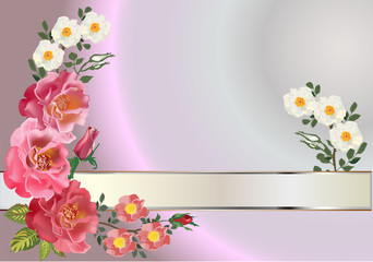 rose decoration with light band