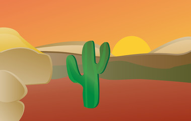 Printed kitchen splashbacks Wild West Desert: A desert landscape.