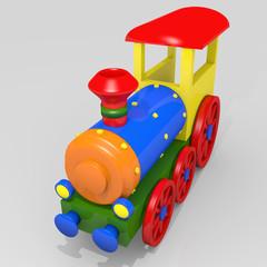 Poster Regenboog Toy train