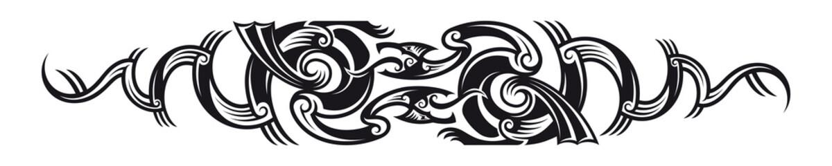 Two dragons pattern