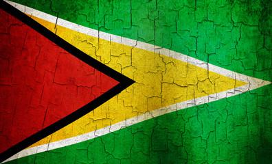Grunge Guyana flag