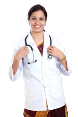 Indian female doctor with stethoscope