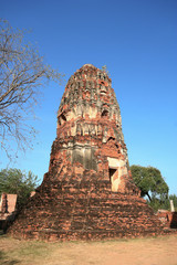 Ancient pagoda in Ayutthaya Thailand