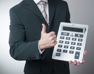 positive financial businessman