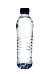 Bottle of water isolated on white with clipping path