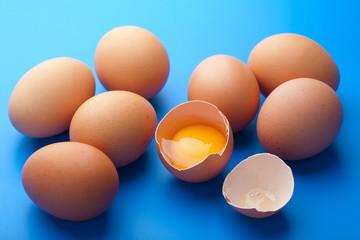 eggs over blue