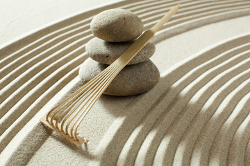 Acrylic Prints Stones in Sand working with zen energy