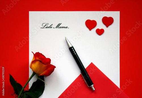 Brief Liebe Mama Muttertag Valentinstag Gruss Stockfotos Und