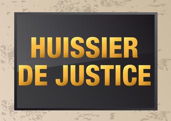 PLAQUE_NOIRE_Huissier de Justice