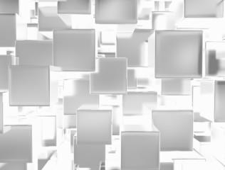 Bright metal cubes