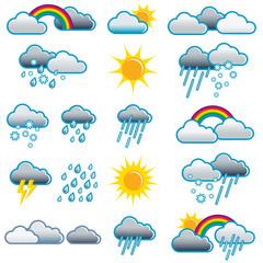 Wetter, Symbole, Piktogramme, Icons, Illustration