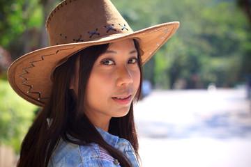 women wearing cowgirl hat