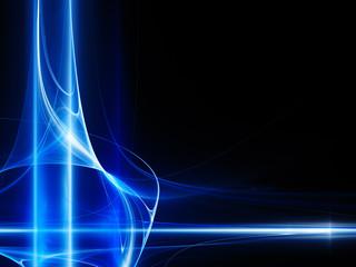 Blue on black techno design