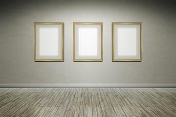 grunge wall frames