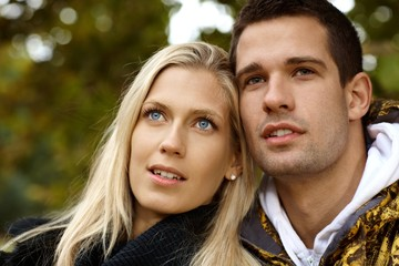Portrait of attractive young couple