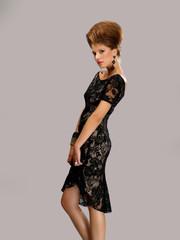 beautiful girl inblack dress