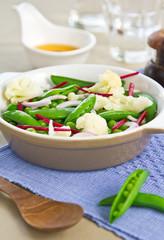 Pea,Bean and Cauliflower salad