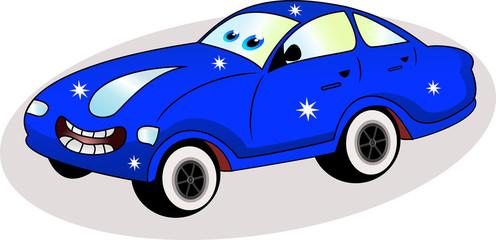 Cadres-photo bureau Voitures enfants funny blue car