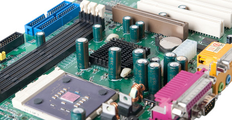 PC motherboard.