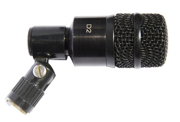 Instrumental microphone isoleted on white background