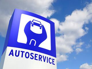 Schild Autoservice